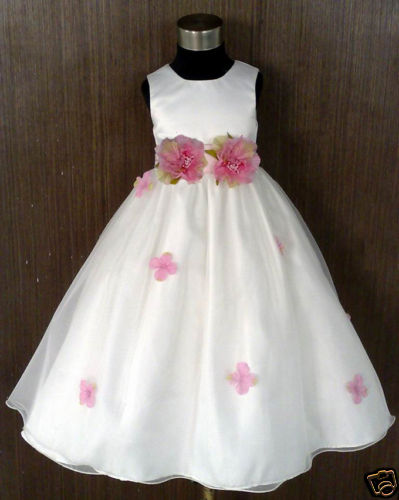 Ivory girls flower dress