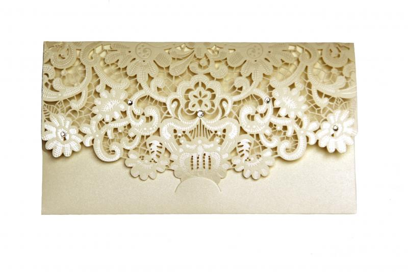 Cream Laser Cut Gift Money Vouchers Tokens Walle...