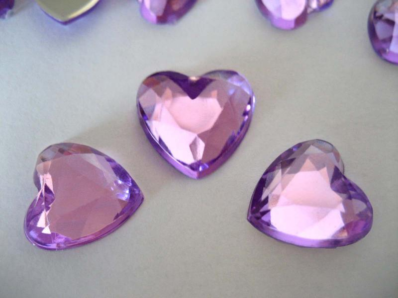 Lilac Heart shap Scatter Table Confetti Free Pos...