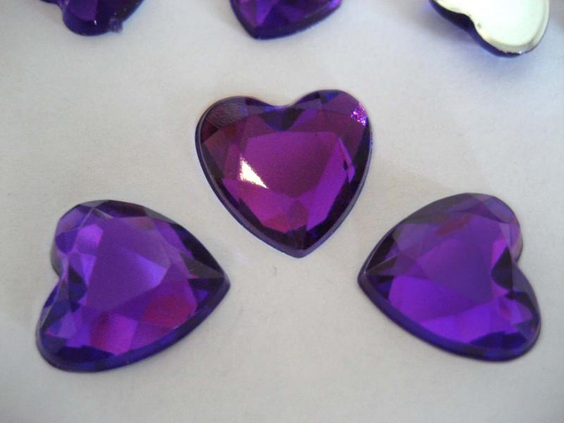Purple Heart shap Scatter Table Confetti Free Po...