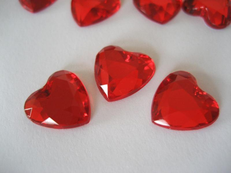 Red Heart shaped Table Confetti Inland Free Post...