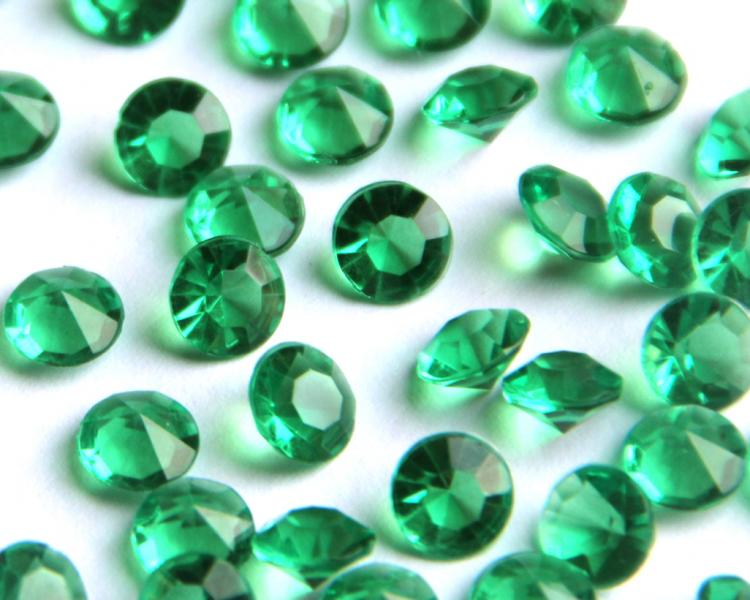 4.5mm Dark Green Table Scatter Crystals 1/3 Carat