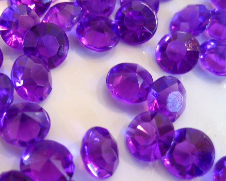 7mm Sparkle Purple Table Scatter Gems Crystals