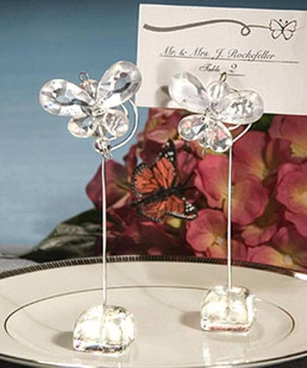 Clear Butterfly Wedding/Party Table Place Card H...