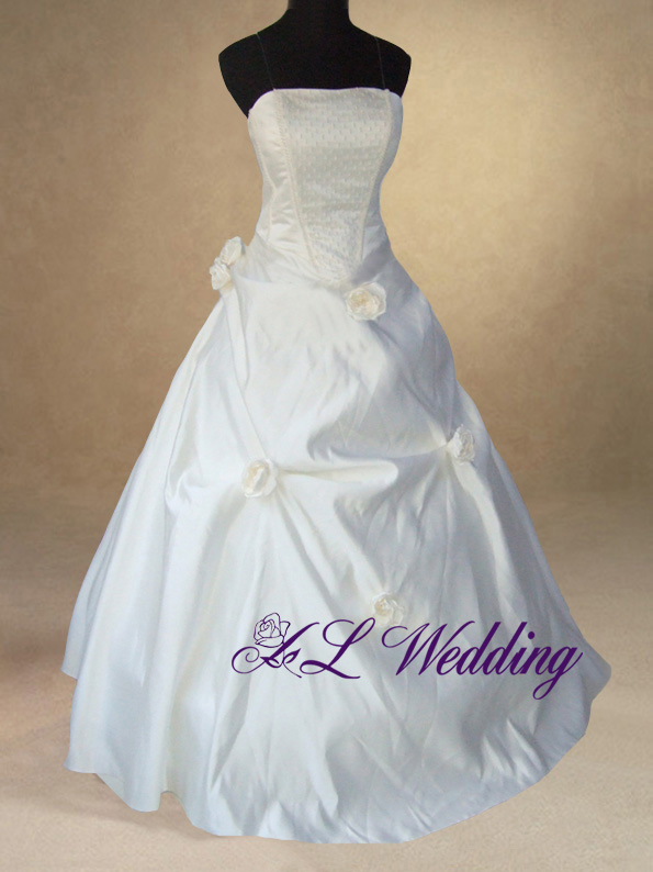 Ivory Bridal Wedding Ball Gown Dress