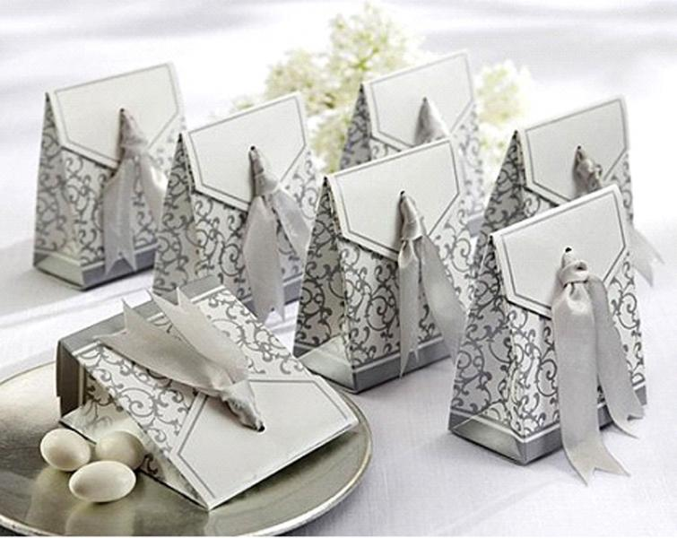Silver Wedding/Party Sweets Favours Boxes