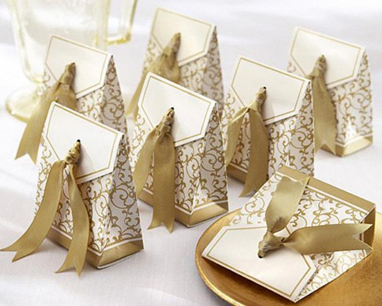 Gold Wedding/Party Sweets Favours Boxes