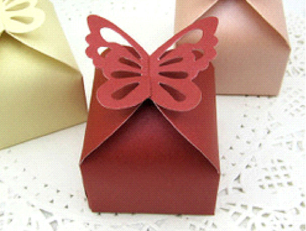 Burgundy Wedding/Party Sweets Favours Boxes
