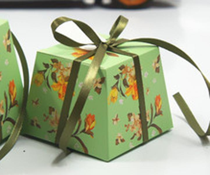 Green Wedding/Party Sweets Favours Boxes